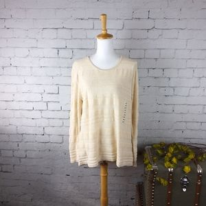 Eight Eight Eight sweater w/ textured stripes